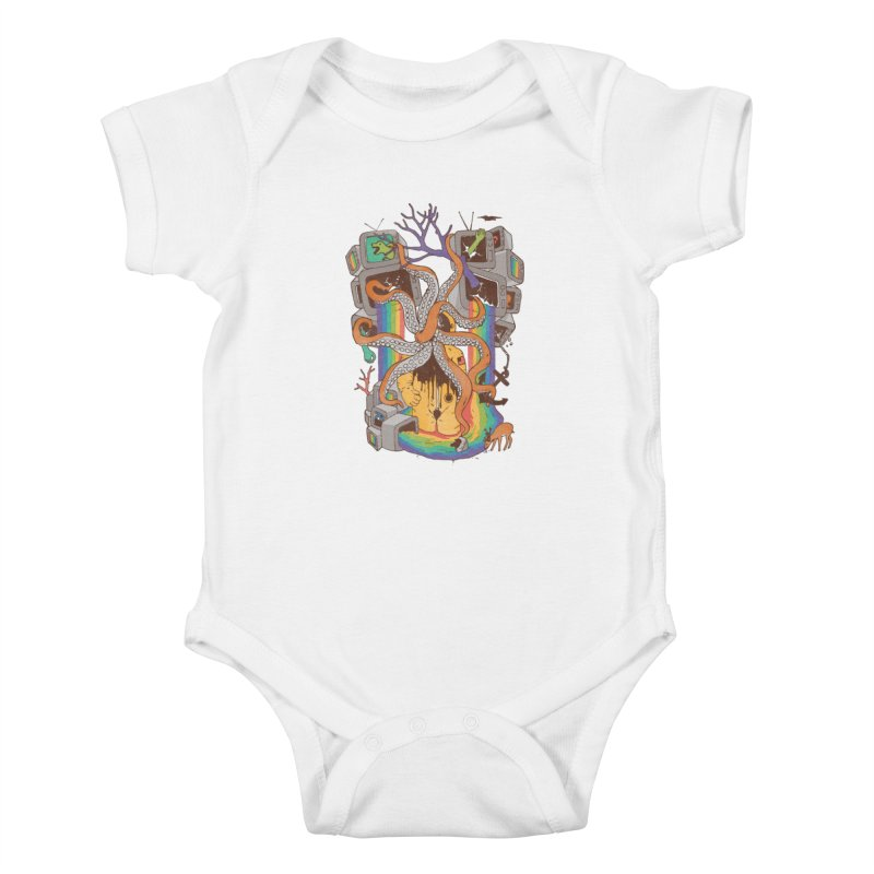 A Fragmented Reality Kids Baby Bodysuit by normanduenas's Artist Shop