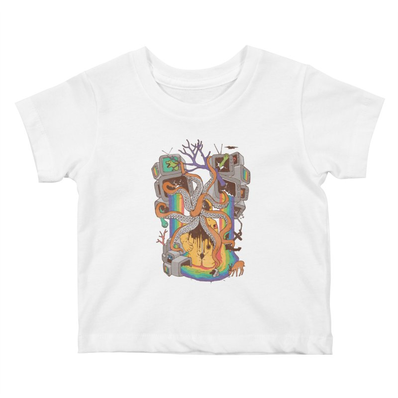 A Fragmented Reality Kids Baby T-Shirt by normanduenas's Artist Shop