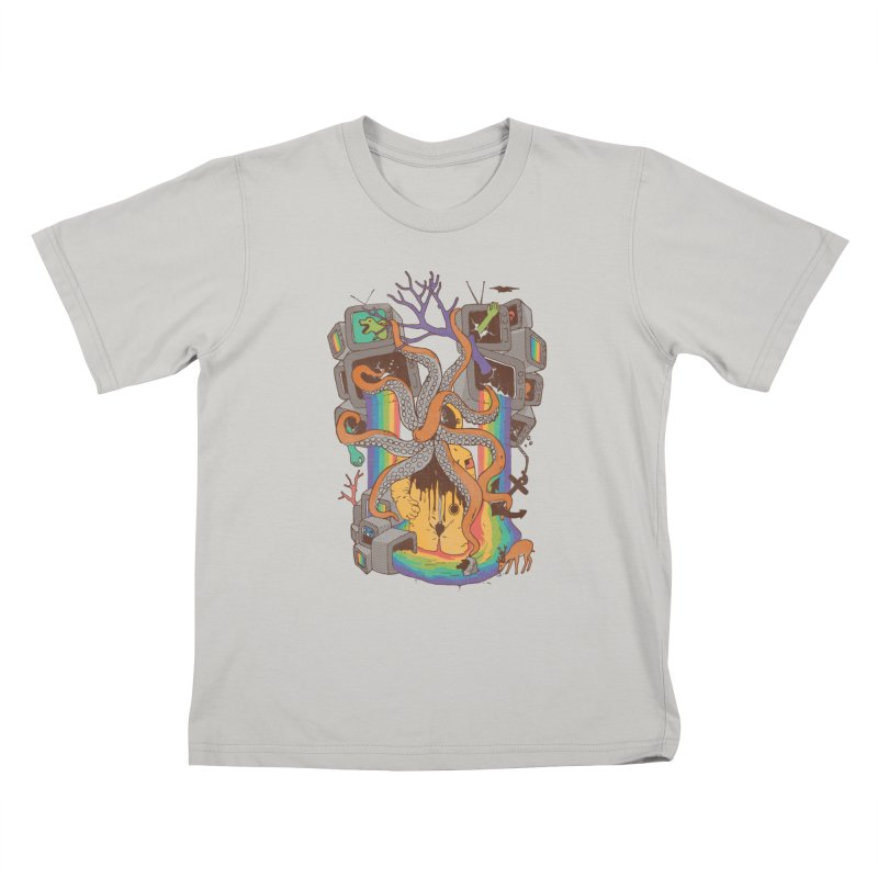 A Fragmented Reality Kids T-shirt by normanduenas's Artist Shop