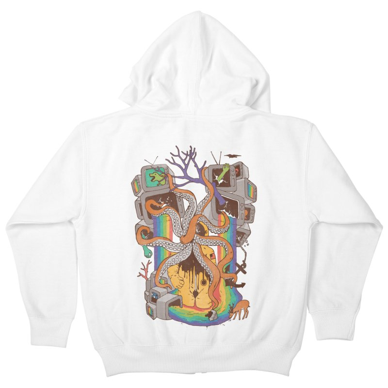 A Fragmented Reality Kids Zip-Up Hoody by normanduenas's Artist Shop