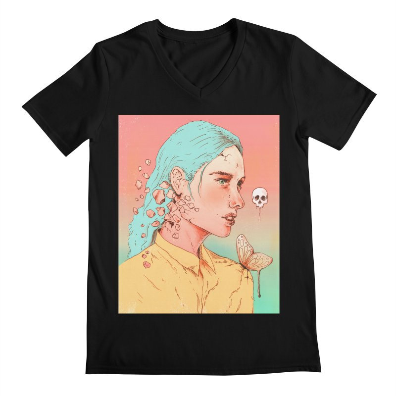 If I Could Only Live Once More Men's V-Neck by normanduenas's Artist Shop