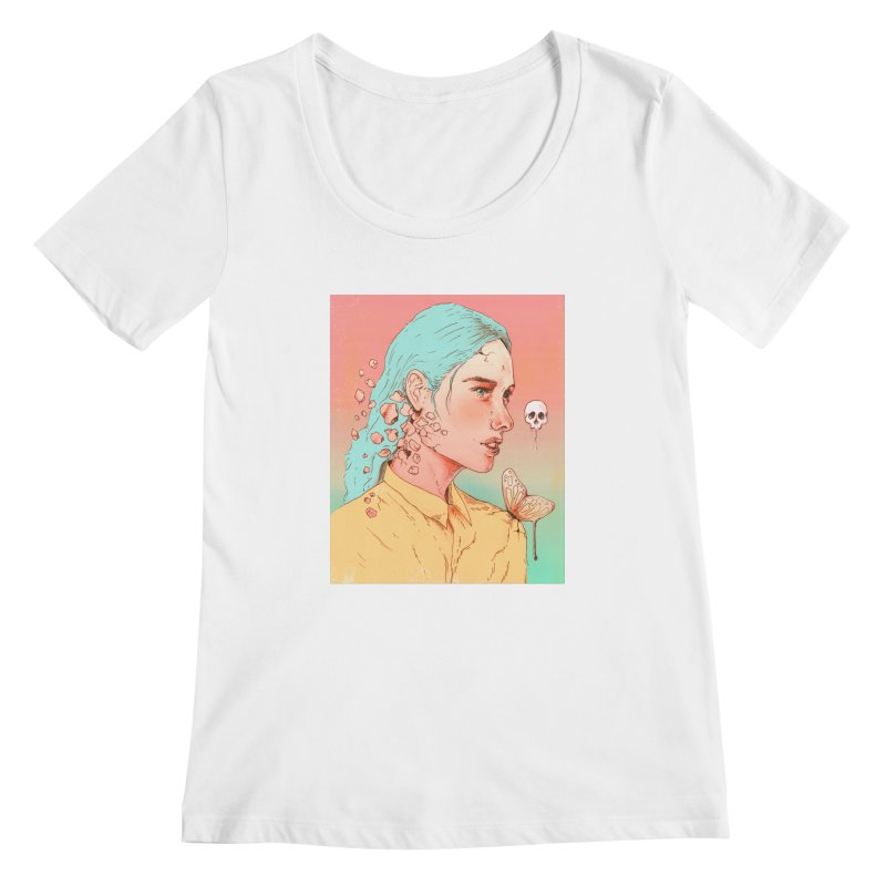 If I Could Only Live Once More Women's Scoopneck by normanduenas's Artist Shop