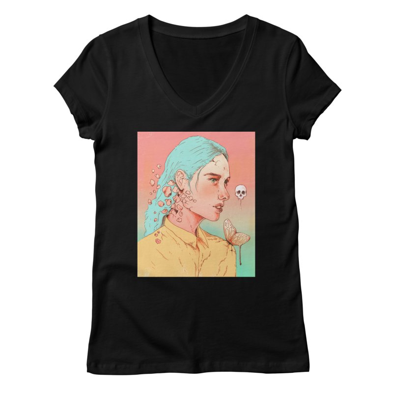 If I Could Only Live Once More Women's V-Neck by normanduenas's Artist Shop