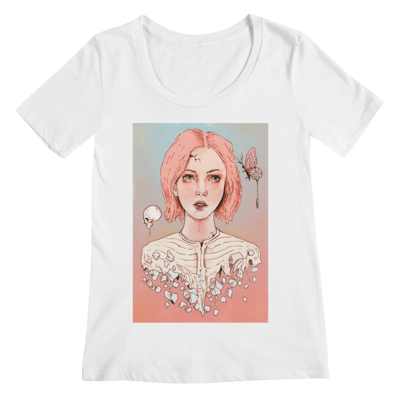 Let's Stay Here Forever Women's Scoopneck by normanduenas's Artist Shop