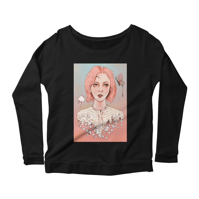 Let's Stay Here Forever Women's Longsleeve Scoopneck  by normanduenas's Artist Shop