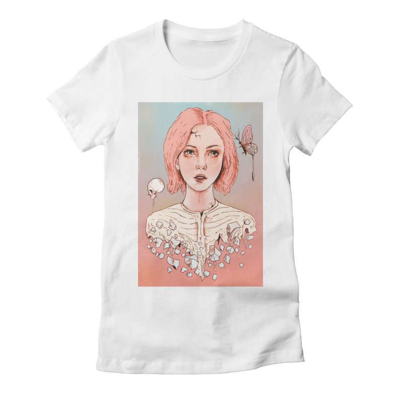 Let's Stay Here Forever Women's Fitted T-Shirt by normanduenas's Artist Shop