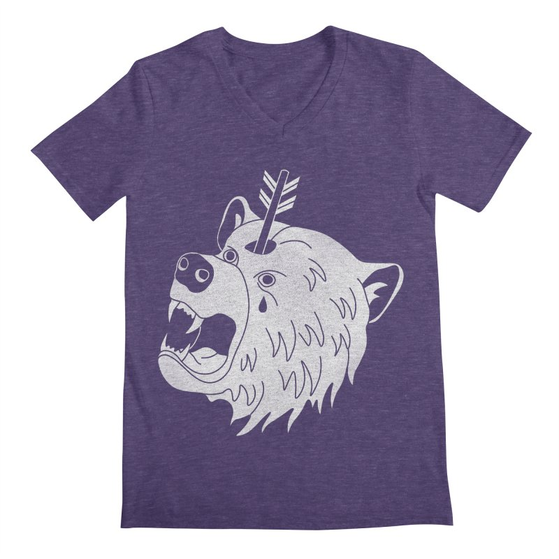 Bear in Mind Men's V-Neck by normanduenas's Artist Shop