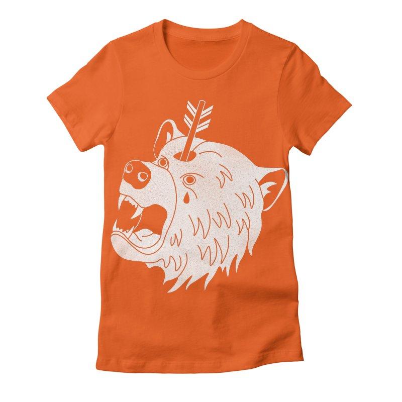 Bear in Mind Women's Fitted T-Shirt by normanduenas's Artist Shop