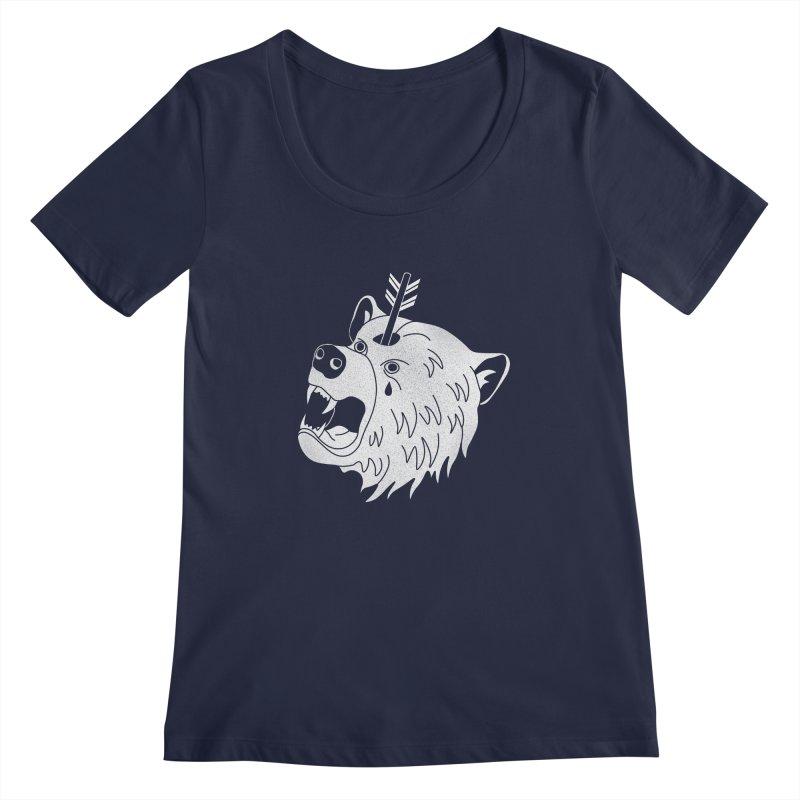 Bear in Mind Women's Scoopneck by normanduenas's Artist Shop