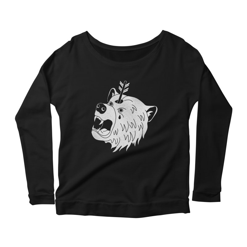Bear in Mind Women's Longsleeve Scoopneck  by normanduenas's Artist Shop