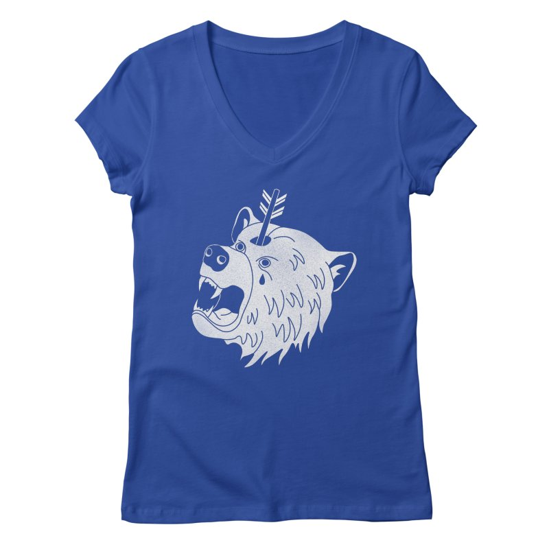 Bear in Mind Women's V-Neck by normanduenas's Artist Shop