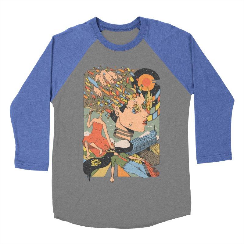 A Shattered Mind Men's Baseball Triblend T-Shirt by normanduenas's Artist Shop