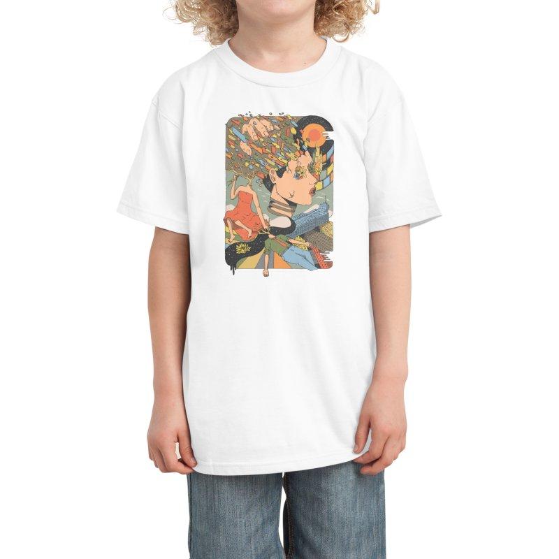 A Shattered Mind Kids T-Shirt by normanduenas's Artist Shop