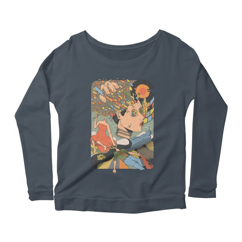 A Shattered Mind Women's Longsleeve Scoopneck  by normanduenas's Artist Shop