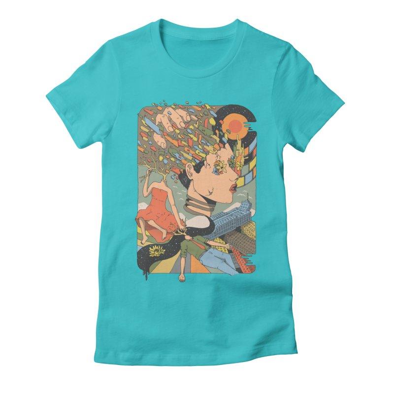 A Shattered Mind Women's Fitted T-Shirt by normanduenas's Artist Shop