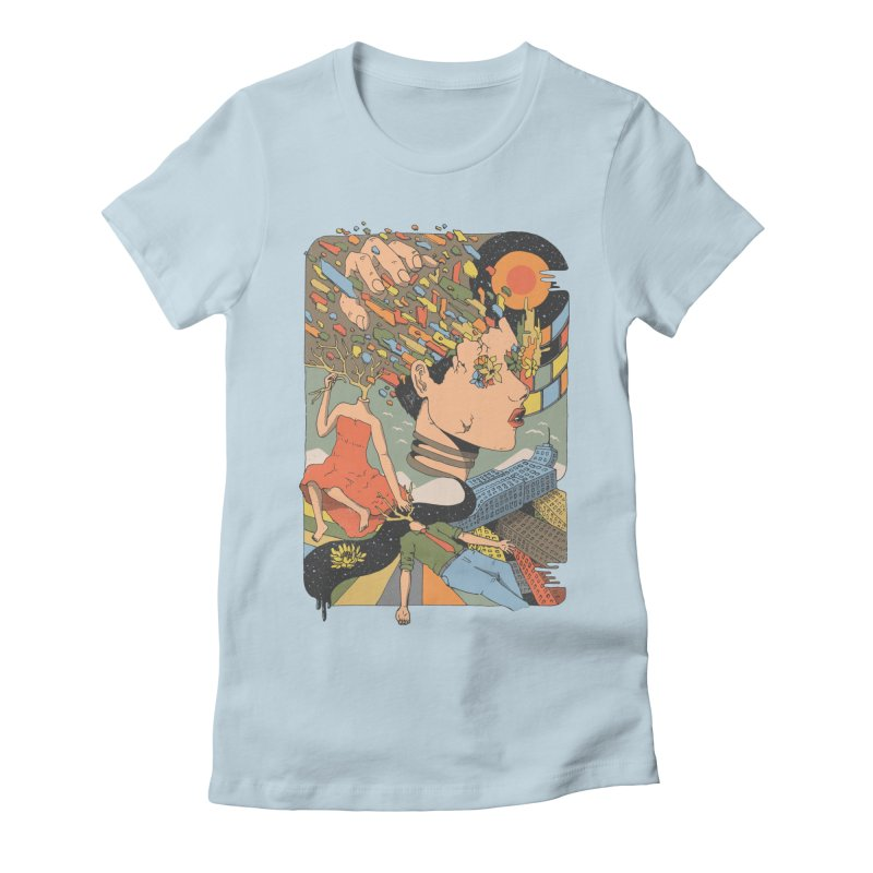 A Shattered Mind Women's Fitted T-Shirt by normanduenas's Artist Shop