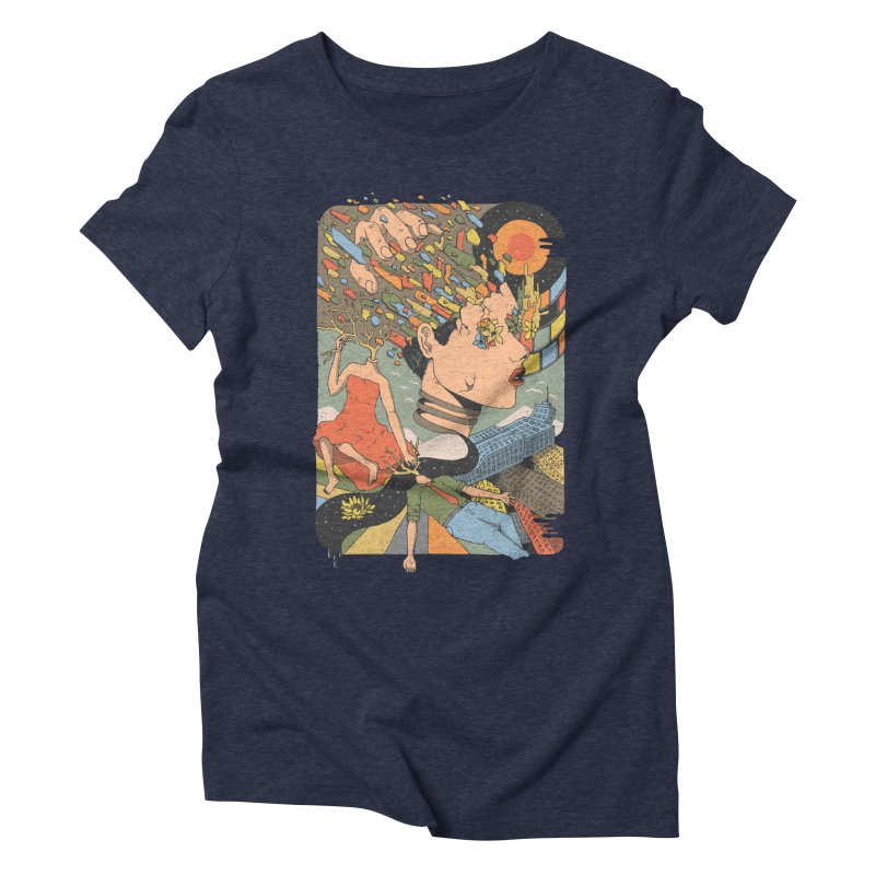 A Shattered Mind Women's Triblend T-shirt by normanduenas's Artist Shop