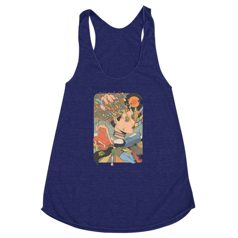 A Shattered Mind Women's Racerback Triblend Tank by normanduenas's Artist Shop