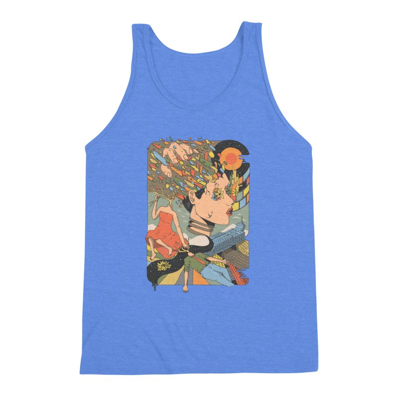 A Shattered Mind Men's Triblend Tank by normanduenas's Artist Shop