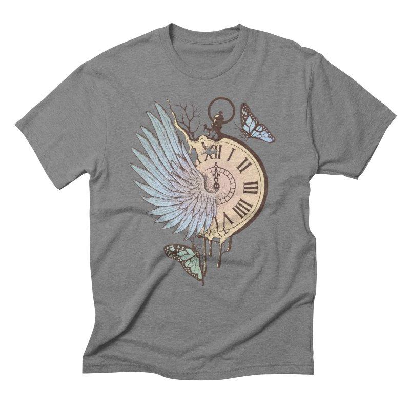 Le Temps Passe Vite (Time Flies) Men's Triblend T-Shirt by normanduenas's Artist Shop