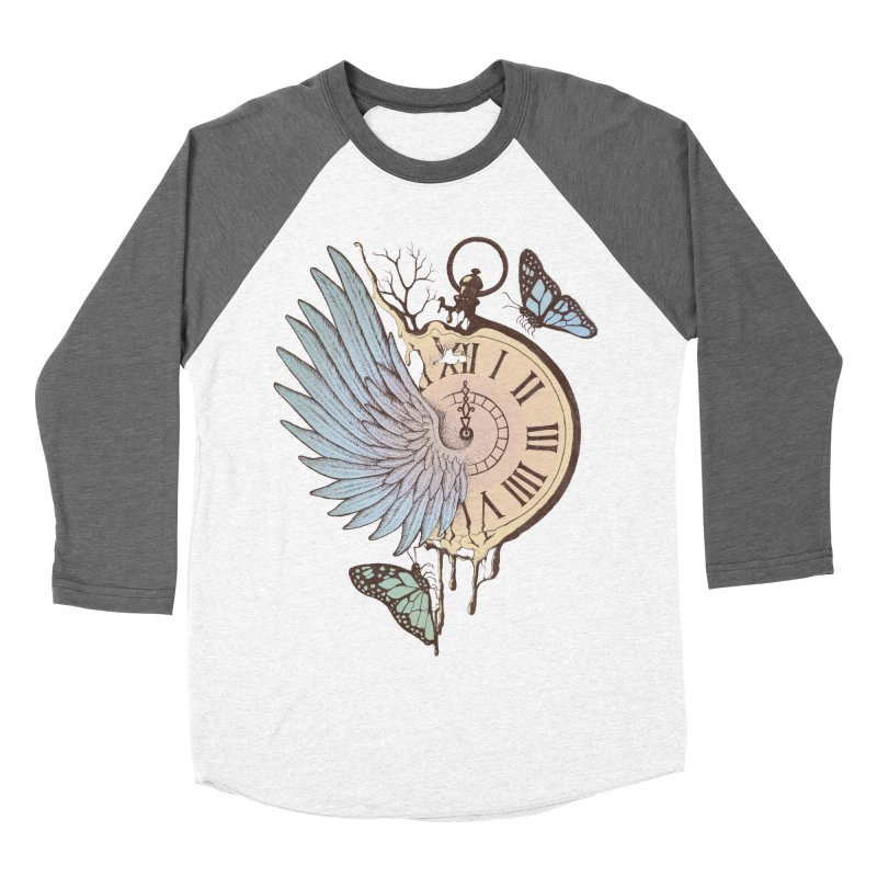 Le Temps Passe Vite (Time Flies) Men's Baseball Triblend T-Shirt by normanduenas's Artist Shop