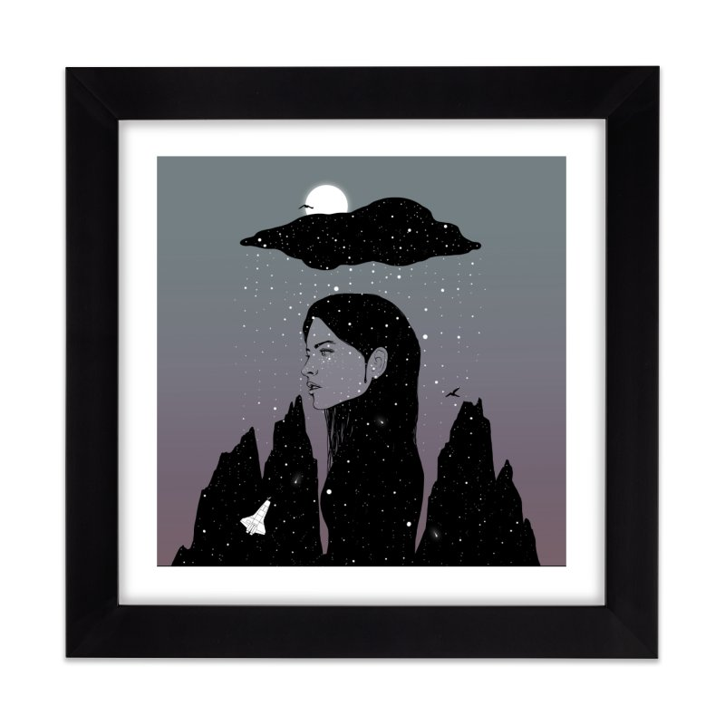 If My Dark Cloud Were Full of Stars Home Framed Fine Art Print by normanduenas's Artist Shop
