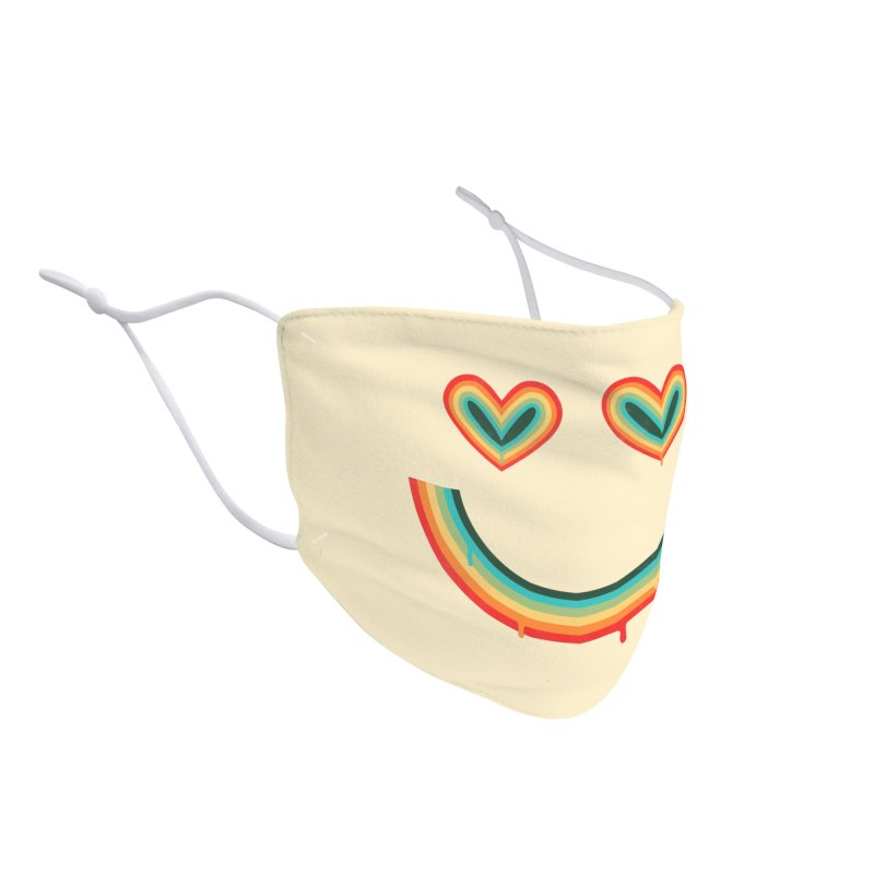 Happy Rainbow Accessories Face Mask by normanduenas's Artist Shop