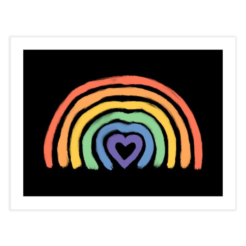 Rainbow Heart Home Fine Art Print by normanduenas's Artist Shop