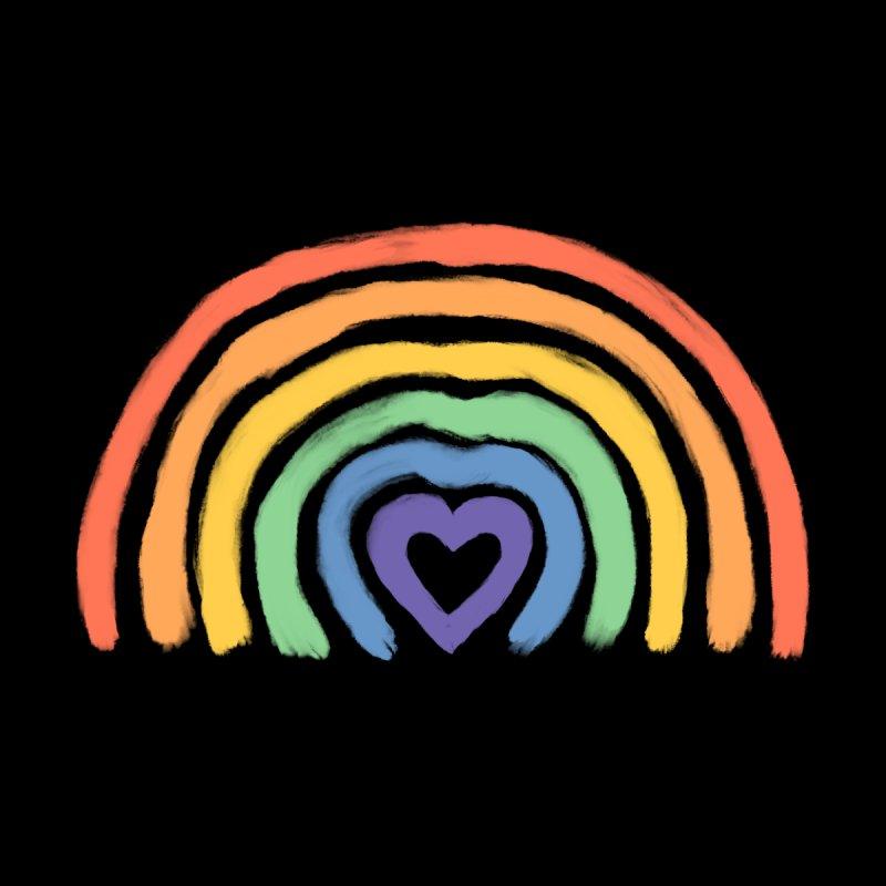 Rainbow Heart Accessories Face Mask by normanduenas's Artist Shop