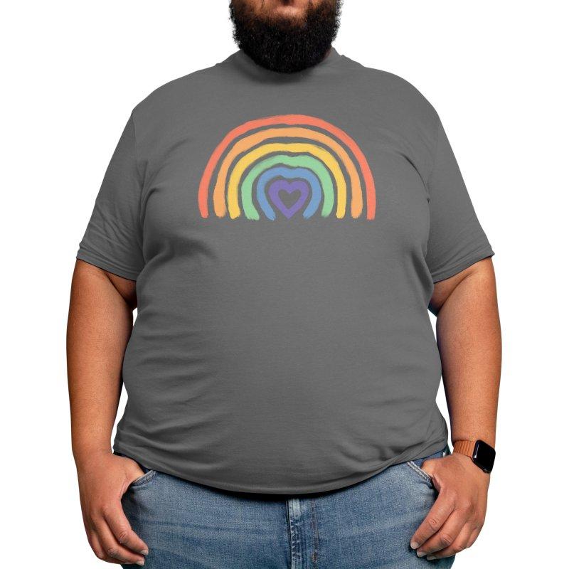 Rainbow Heart Men's T-Shirt by normanduenas's Artist Shop