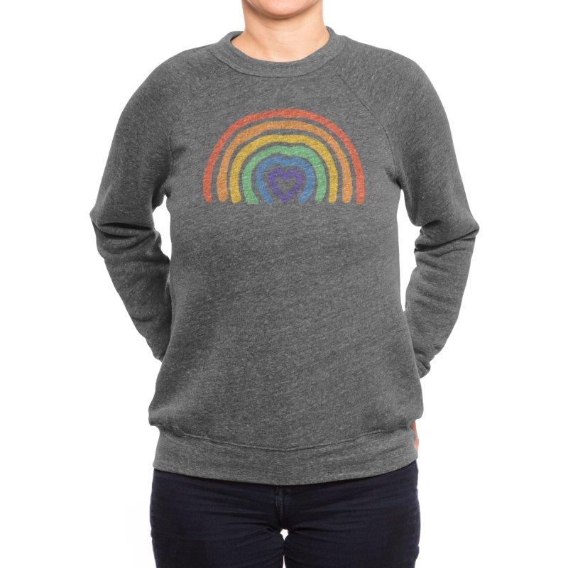 Rainbow Heart Women's Sweatshirt by normanduenas's Artist Shop