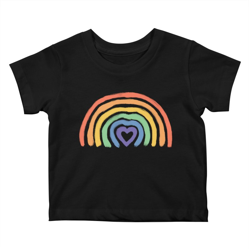 Rainbow Heart Kids Baby T-Shirt by normanduenas's Artist Shop