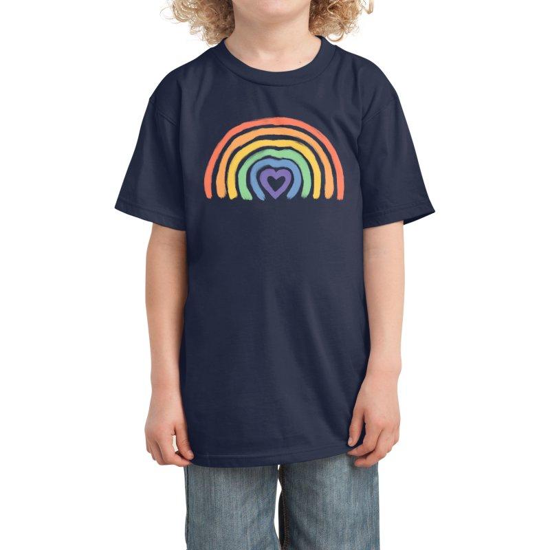 Rainbow Heart Kids T-Shirt by normanduenas's Artist Shop