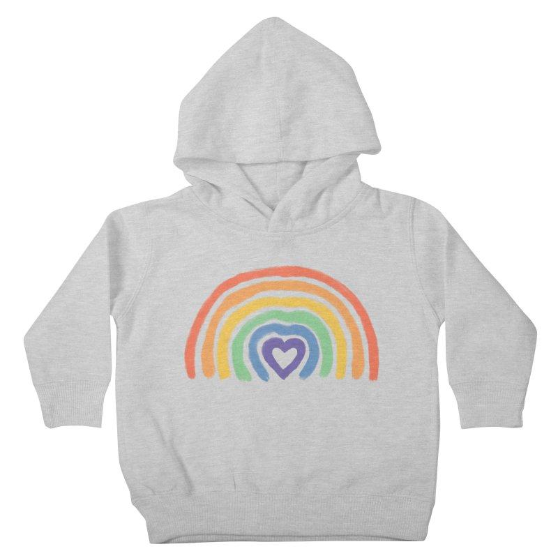 Rainbow Heart Kids Toddler Pullover Hoody by normanduenas's Artist Shop