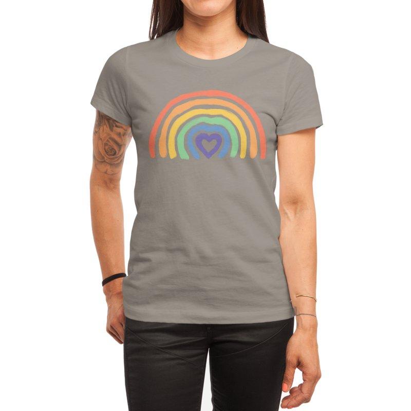 Rainbow Heart Women's T-Shirt by normanduenas's Artist Shop