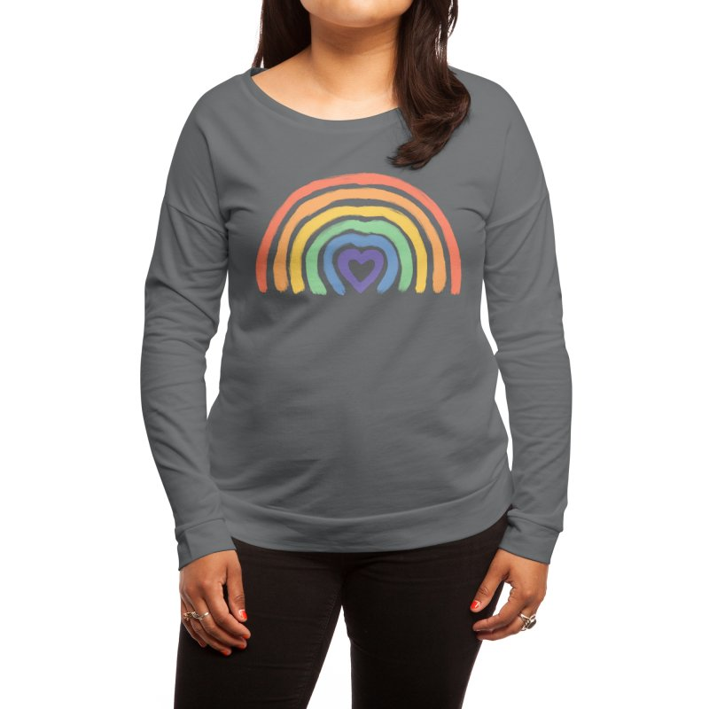 Rainbow Heart Women's Longsleeve T-Shirt by normanduenas's Artist Shop