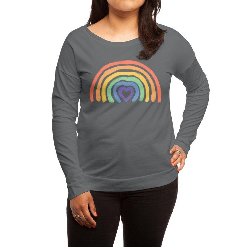 Rainbow Heart Women's Longsleeve T-Shirt by normanduenas's Artist Shop