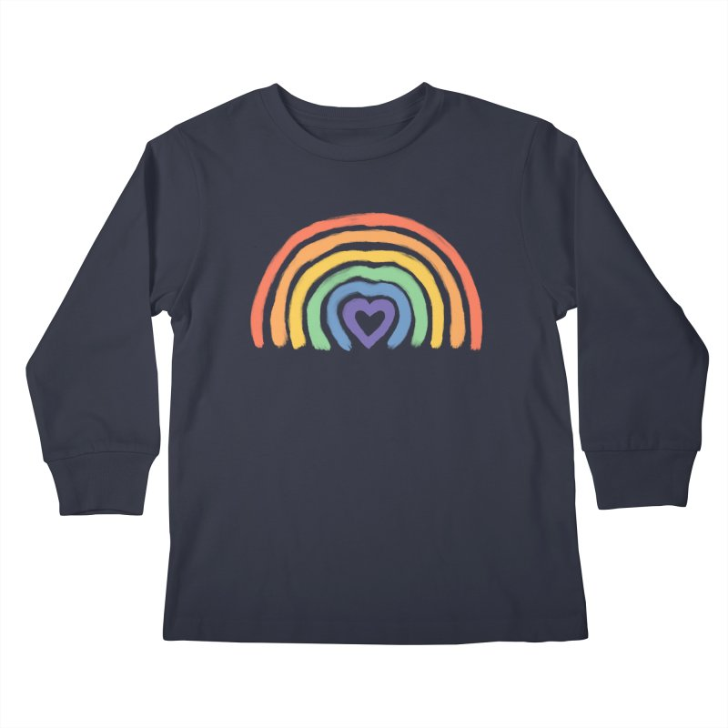 Rainbow Heart Kids Longsleeve T-Shirt by normanduenas's Artist Shop