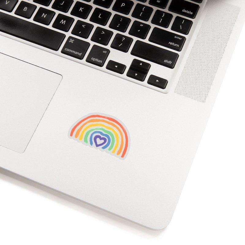 Rainbow Heart Accessories Sticker by normanduenas's Artist Shop