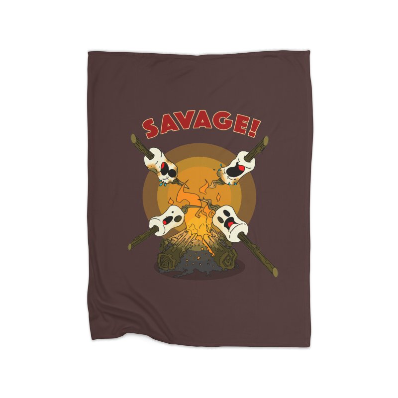 Savage Campfire! Home Blanket by NORMAN WDC SHOP