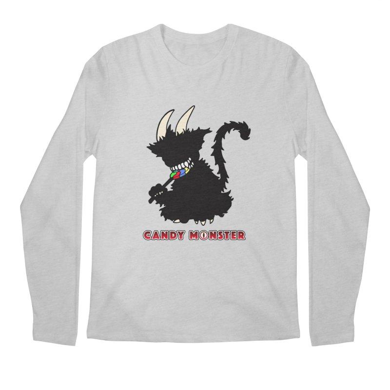 Candy Monster Men's Regular Longsleeve T-Shirt by Norman Wilkerson Designs