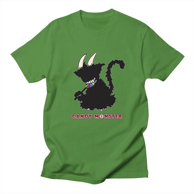 Candy Monster Men's Regular T-Shirt by Norman Wilkerson Designs