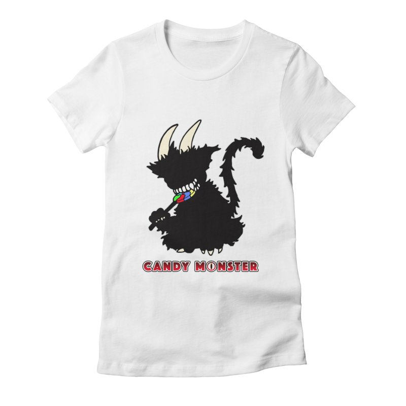 Candy Monster Women's Fitted T-Shirt by Norman Wilkerson Designs