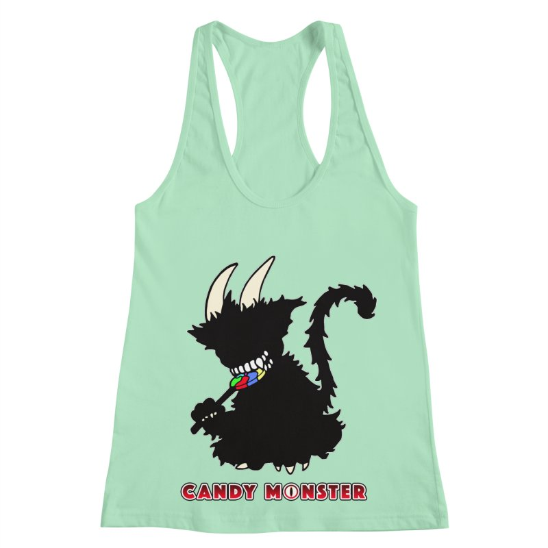 Candy Monster Women's Racerback Tank by Norman Wilkerson Designs