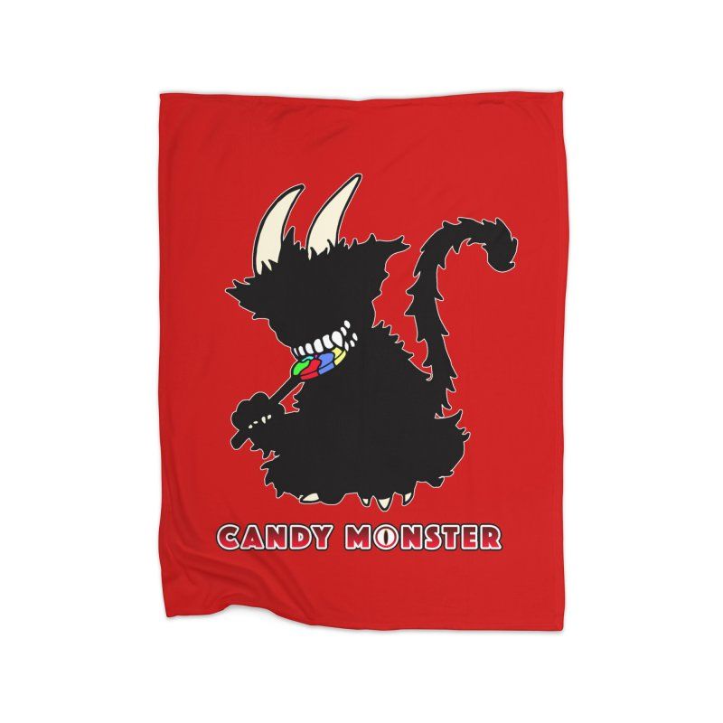 Candy Monster Home Fleece Blanket Blanket by Norman Wilkerson Designs