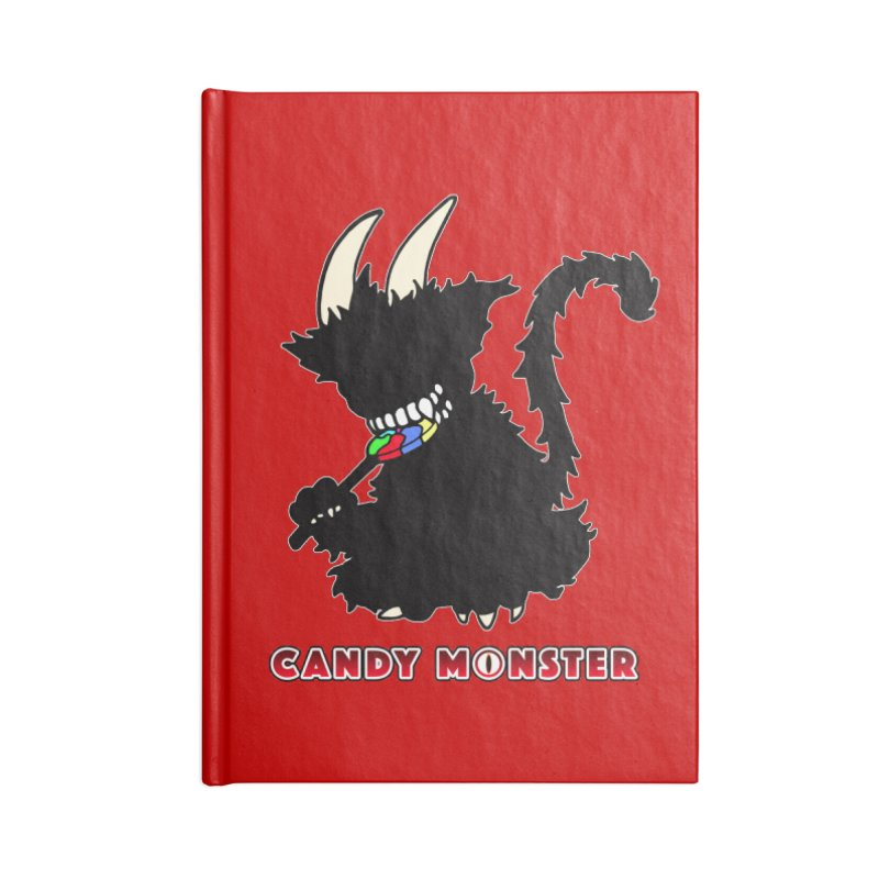 Candy Monster Accessories Blank Journal Notebook by Norman Wilkerson Designs