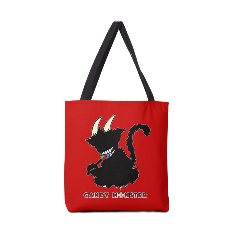 Candy Monster Accessories Tote Bag Bag by Norman Wilkerson Designs