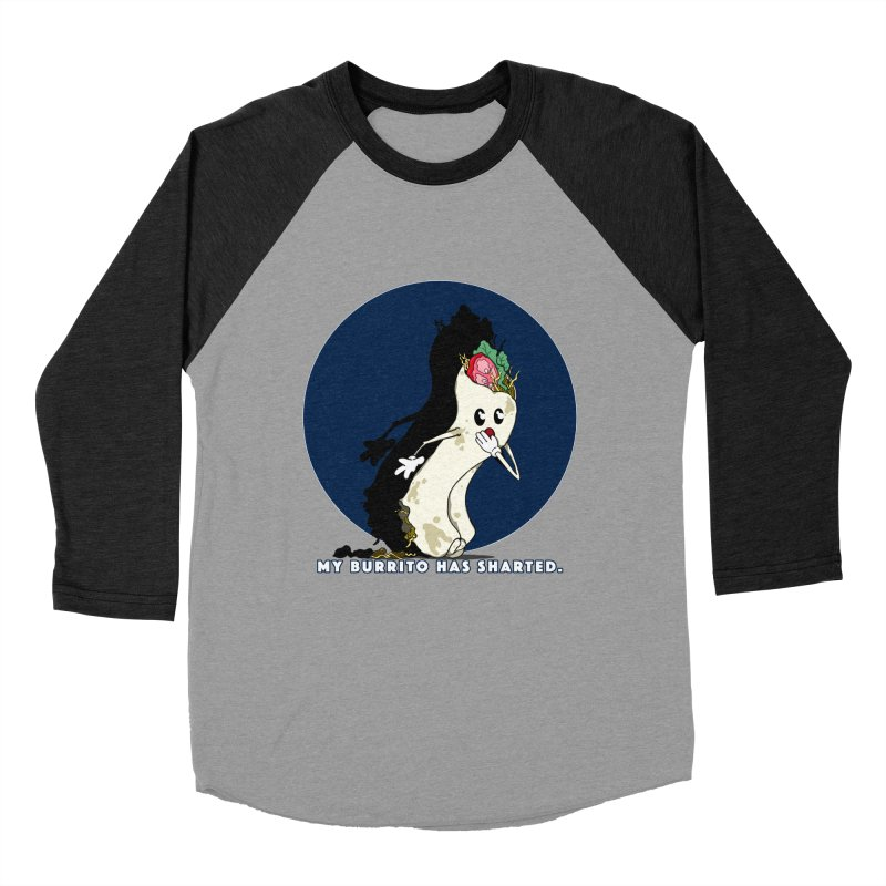 My Burrito Has Sharted Women's Baseball Triblend Longsleeve T-Shirt by Norman Wilkerson Designs
