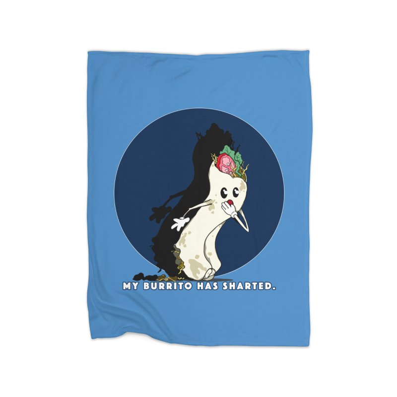 My Burrito Has Sharted Home Fleece Blanket Blanket by Norman Wilkerson Designs