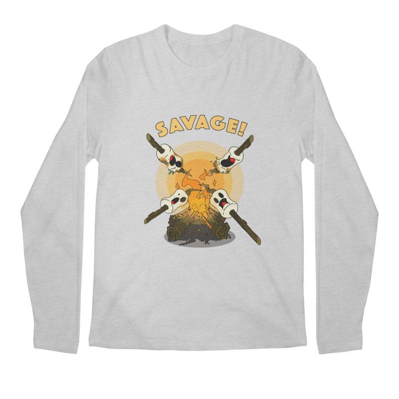 Savage Men's Regular Longsleeve T-Shirt by Norman Wilkerson Designs